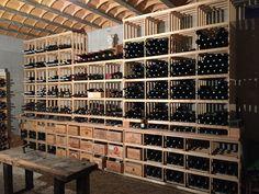 Casiers pour bouteilles, casier vin, cave à vin, rangement du vin, aménagement cave, casier bois, meuble en bois => Installation dans une cave particulière de deux 700, d'un 700 3h, de deux Combi 5 et d'un Combi 4 pour un rendu exceptionnel.