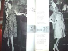 Vogue Pattern Book, December 1958-January 1959 featuring Vogue S-4919 (left) and 132 (right)