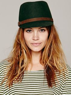 Hats & Fedoras for Women Types Of Hats, Military Cap, Cool Hats, Boho Outfits, Bohemian Style, Free People, Stylists, Fashion Tips, Women