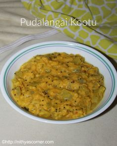 Pudalangai kootu, snake gourd kootu. A healthy and tasty side dish made with pudalangai for rice and rotis.