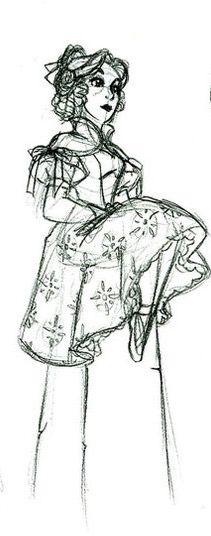 Lillian Gracey sketch, isn't she AWESOME?! Disney Stuff, Disney Art, Disney Rides, Tower Of Terror, Haunted Mansion, Fun Projects, Pixar, Character Art, Artsy