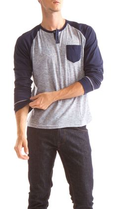 Navy and grey pullover