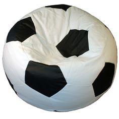 Voetbal zitzak 90 cm een echte eye catcher voor thuis of op kantoor