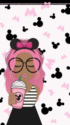 Minnie Mouse Starbucks Girl Home Screens/Lock Screens