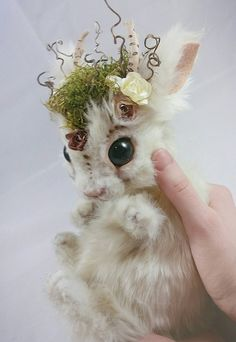 Baby Springtime Jackalope Realistic by RikerCreatures im in loooove
