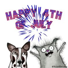 4Th Of July Animation GIF by Red & Howling - Find & Share on GIPHY