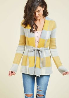 a8a0bebac81 Simply Snuggly Plaid Cardigan in Dawn. Every time you slip into this  checkered cardi