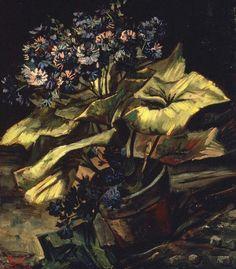 Cineraria in a Flowerpot. Paris, Summer 1886, Size 54,5 x 46cm