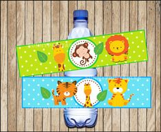 Safari water bottle labels printable Safari por Sunnyprintables