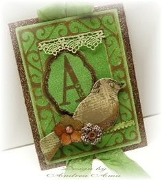 Gorgeous Door Hanger using Core'dinations Cardstock from Designer @Andrea Amu also featuring @May Arts Ribbon