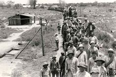 Ailing Bolivian prisoners awaiting transport to the rear.The Chaco war (1932-1935)