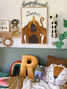 Nursery Prints, Nursery Wall Art, Wall Art Decor, Nursery Decor, Jungle Nursery, Art Wall Kids, Art For Kids, Boy Girl Bedroom, Mermaid Kids