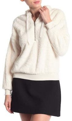 a388410f82d704 Poof Plush Partial Zip Hoodie
