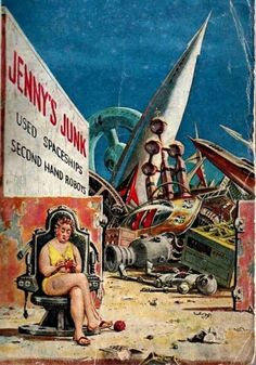 1960 Junkyard of the future - Galaxy Magazine cover art...