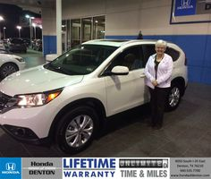 I purchased a new Honda CRV today at Honda of Denton. Everyone was extremely helpful and friendly. Everything was explained completely and they answered all my questions very patiently. I couldn't have asked for a better experience from start to finish. - M. K. Marsden Friday, February 21, 2014