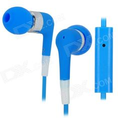 Quantity: 1 Piece; Color: Blue; Material: TPE; Compatible Models: Iphone 3g / 3GS / 4 / 4S / Ipod / Ipad; Microphone: Yes; Earphones Type: In-Ear Earphones; Headphone Jack: 3.5mm Jack; Impedance: 32ohm; Frequency Response Range: 20~20000Hz; Cable Length: 115 cm; Packing List: 1 x Stylish earphone; http://j.mp/1lkkKAL