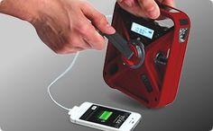 Black Eton FRX3 Hand turbine AM/FM/NOAA weather ALERT radio with USB smart phone charger and LED flashlight - Self-Powered Radios - Comms - TruPrep Emergency Preparedness
