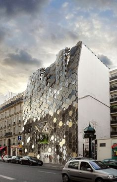 glittering mirrored honey-comb panels Paris AMAZING!!!