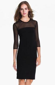 Kamali Kulture Sheer Yoke Sheath Dress, $96 at Nordstrom