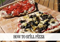 How to grill pizza, with homemade dough recipe!   QueenBeeCoupons.com #pizza #grill #recipe