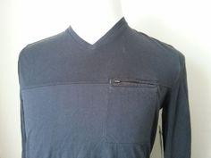 Calvin Klein Men's Size S Long Sleeve #cotton V-Neck Zipped Pocket  Blue T-shirt CalvinKlein visit our ebay store at  http://stores.ebay.com/esquirestore