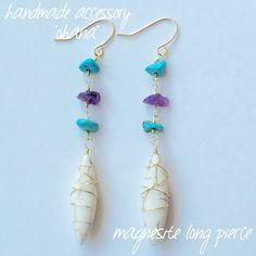 good morning~ ・ handmade accessory ''ohana'' おすすめ商品のご紹介♡❗️ ・ magnesite long…