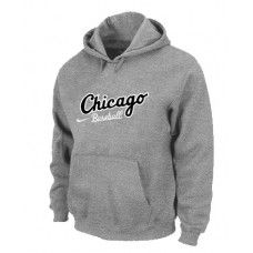 Wholesale Men Fashion Winter Chicago White Sox Grey Baseball Pullover Hoodie_Chicago White Sox Pullover Hoodie