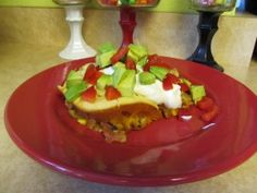Taco casserole - easier for toddlers than a hard shell
