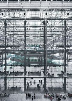 International Airport in Bangkok Murphy/Jahn Architects WERNER SOBEK Engineering & Design - Via : http://ift.tt/1MX5Bx6 - smartnews.urba.info