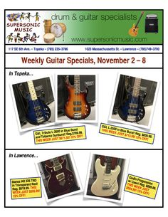 Great guitar specials every week in November!