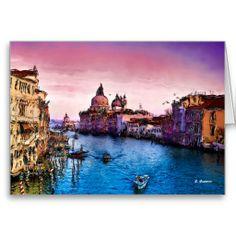 IL GRAN CANAL, greeting card, by E. Giupponi