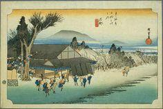 Hiroshige - The Fifty-three Stations of the Tōkaidō 51st station : Ishibe