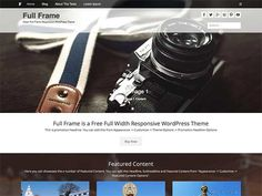 Full Frame is a full-width responsive WordPress theme for business sites