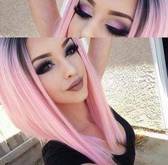 pink fade hair