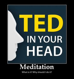 """http://tedmoreno.com/podcast  Ted in Your Head Podcast #25: """"What is Meditation and Why Should I Do It?"""" How do I do it? What if I can't stop my thoughts? Do I need a guru? Don't I have to be a Buddhist? Why should I sit and do nothing? Ted answers your questions about how to be free from you."""