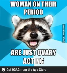 Woman on her period