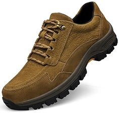 QIANMO Mens Outdoor Hiking Leather shoes *** Find out more about the great product at the image link.