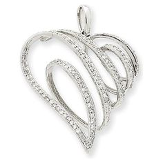 Diamond Swirl Heart Pendant (again someone please tell my husband!) :)