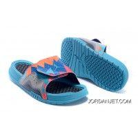 beac02c189d New Air Jordan Hydro 7 Retro Slide Dark Grey/Turquoise Blue-Total Orange  Mens