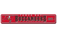 NFL Tampa Bay Buccaneers Plastic Street Sign -- Details can be found by clicking on the image.