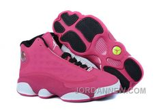 http://www.jordannew.com/girls-air-jordan-13-fusion-pink-blackwhite-for-sale.html GIRLS AIR JORDAN 13 FUSION PINK/BLACK-WHITE FOR SALE Only $89.00 , Free Shipping!