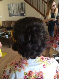 Special occasion Bridal updo done by me | flagstaff bride | classy updo with curls | hair by Michelle M.