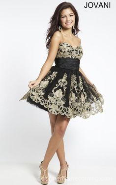 Strapless 88033 Jovani Short Dress For Homecoming