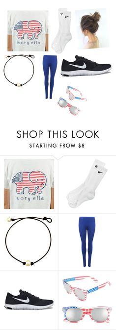 """Watching fireworks on the 4th🇺🇸"" by stephanie-rosenthal ❤ liked on Polyvore featuring NIKE, WearAll and BP."