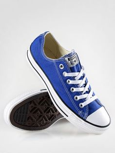 I love these...Converse Shoes Chuck Taylor All Star...Decatur Eagle Blue would be super cute hand painted for football!