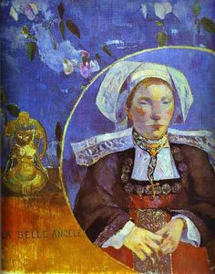 Paul Gauguin - The Beautiful Angel (Madame Angele Satre, the Innkeeper at Pont-Aven), Musée d'Orsay, Paris. Paul Gauguin, Oil On Canvas, Canvas Art, Canvas Prints, Art Prints, Big Canvas, Framed Prints, Henri Matisse, Impressionist Artists