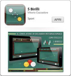 ★★★ L'unico gioco del biliardo internazionale 5 Birilli e Goriziana su iPad ★★★  Riprodotto con estrema cura in tutti i dettagli questo gioco porta su iPad tutto il sapore del Biliardo Internazionale con stecca e 5 birilli.