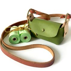 Your place to buy and sell all things handmade Green Leather, Leather Bags, Leather Crossbody, Crossbody Bag, Stitching Leather, Biodegradable Products, Your Dog, House Keys, Buy And Sell