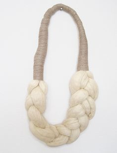 elsinore carabetta wool braid necklace. A scarfclace