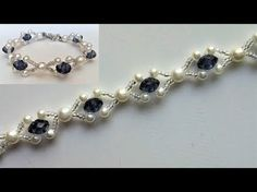 Jewelry making-Bracelet tutorial with pearl beads(black and white) - YouTube